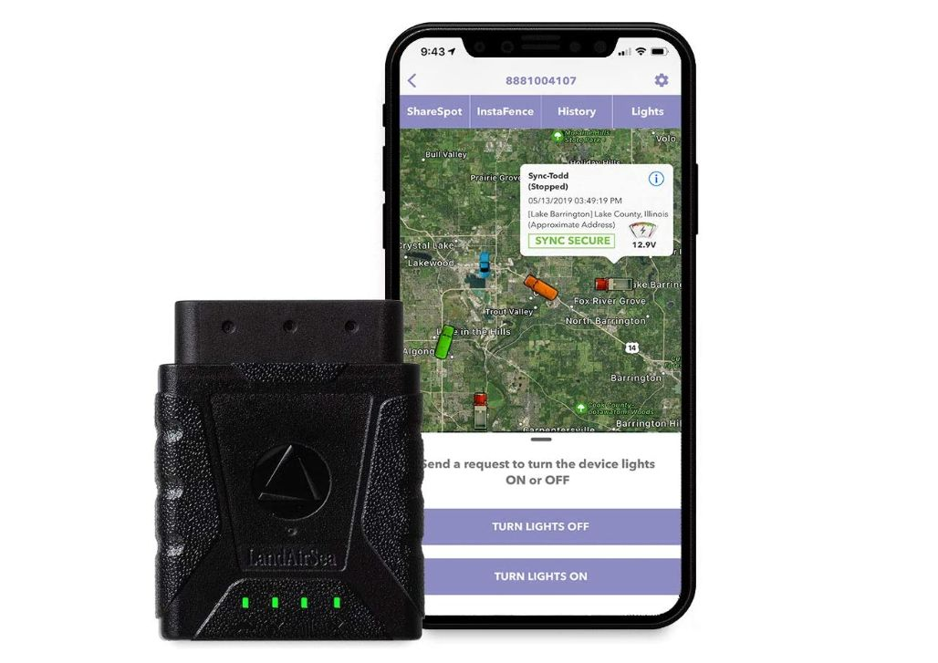 LandAirSea Sync Real-Time 4G LTE GPS Tracker