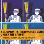 The narrative of an entire community involved in cleaning task finds no mention in official vocabulary